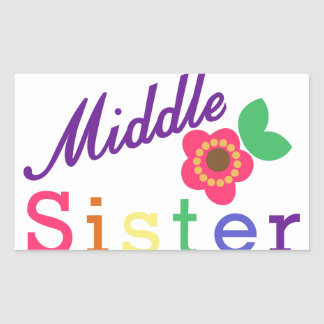 Middle Sister Rectangular Sticker