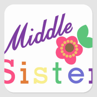 Middle Sister Square Sticker