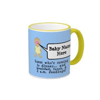 Middle Skintone - YELLOW Ringer Coffee Mug