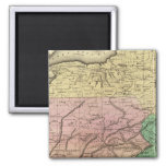 Middle States Olney Map 2 Inch Square Magnet