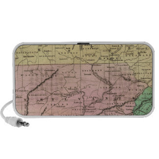 Middle States Olney Map Laptop Speakers