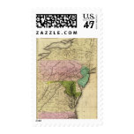 Middle States Olney Map Postage Stamp