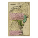 Middle States Olney Map Poster