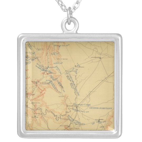 Middle Tennessee Campaign Silver Plated Necklace