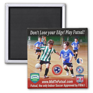 Middle Tennessee Futsal Square 2 Inch Square Magnet
