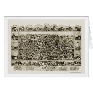 Middleborough, MA Panoramic Map - 1889 Card
