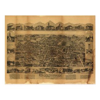 Middleborough Massachusetts (1889) Postcard