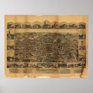 Middleborough Massachusetts (1889) Poster