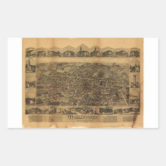 Middleborough Massachusetts (1889) Rectangular Sticker
