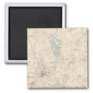 Middleborough, Massachusetts 2 Inch Square Magnet