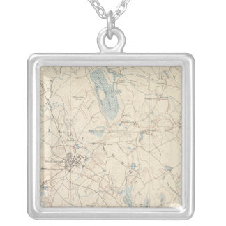 Middleborough, Massachusetts Square Pendant Necklace