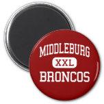 Middleburg - Broncos - High - Middleburg Florida Fridge Magnets