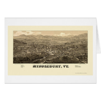 Middlebury, VT Panoramic Map - 1886 Card