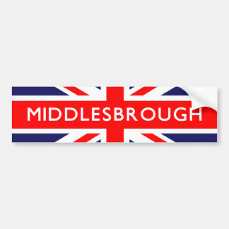 Middlesbrough British Flag Bumper Sticker