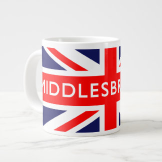 Middlesbrough British Flag Large Coffee Mug