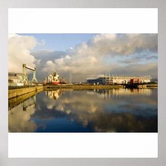 Middlesbrough Riverside At Sunset Print