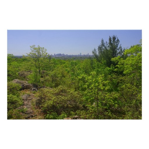 Middlesex Fells View to Boston from Rock Circuit Poster