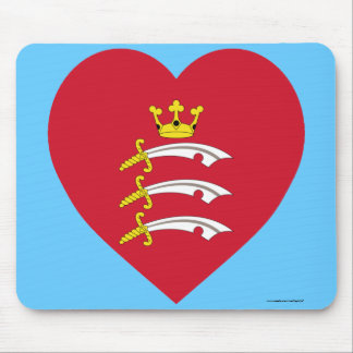 Middlesex Flag Heart Mouse Pad