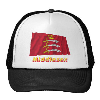 Middlesex Waving Flag with Name Hats