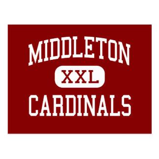 Middleton - Cardinals - High - Middleton Wisconsin Postcard