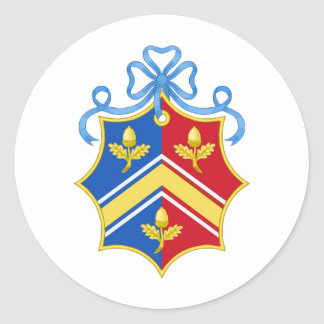 Middleton Coat of Arms / Middleton Family Crest Classic Round Sticker