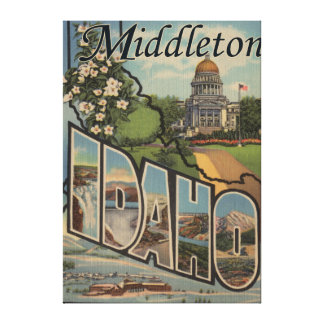 Middleton, Idaho - Large Letter Scenes Gallery Wrap Canvas