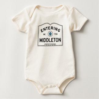 Middleton que entra body para bebé