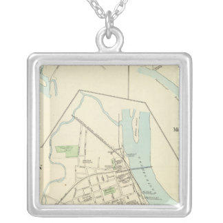 Middletown 2 square pendant necklace