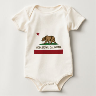 Middletown california state flag baby bodysuits