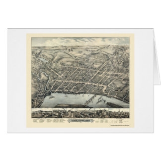 Middletown, CT Panoramic Map - 1877 Card