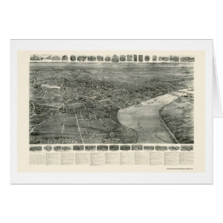 Middletown, CT Panoramic Map - 1915 Card