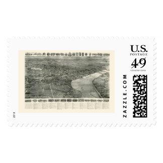 Middletown, CT Panoramic Map - 1915 Stamp