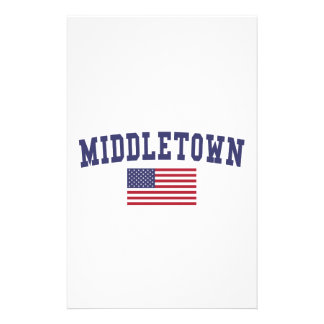 Middletown CT US Flag Stationery