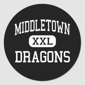 Middletown - Dragons - High - Middletown Classic Round Sticker