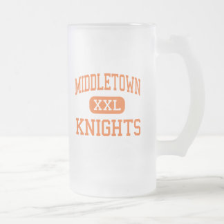 Middletown - Knights - High - Middletown Maryland Frosted Glass Beer Mug
