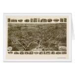 Middletown, mapa panorámico de NY - 1921 Felicitación
