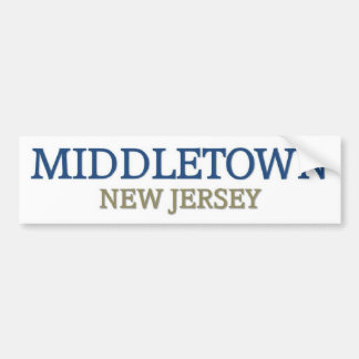 Middletown New Jersey Bumper Sticker