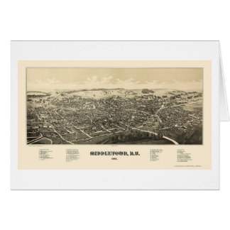 Middletown, NY Panoramic Map - 1887 Card