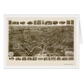 Middletown, NY Panoramic Map - 1921 Card
