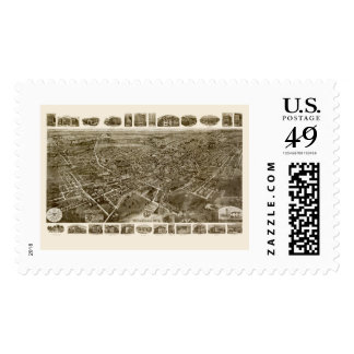 Middletown, NY Panoramic Map - 1921 Stamp