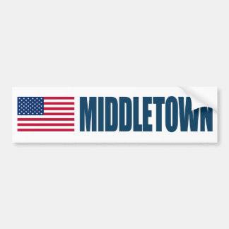 Middletown US Flag Bumper Sticker