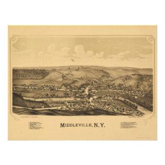 Middleville Nueva York (1890) Membretes Personalizados