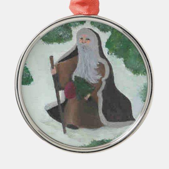 Mideval Santa Ornament
