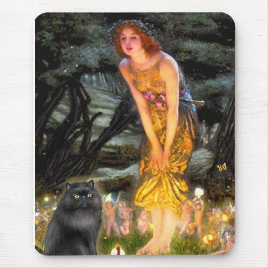 MidEve - black Persian cat Mouse Pad