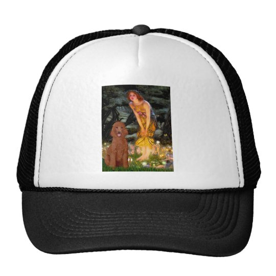 MidEve - Dark Red Standard Poodle #1 Trucker Hat