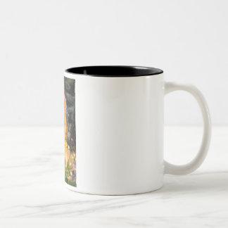 MidEve - Dark Red Standard Poodle #1 Two-Tone Coffee Mug