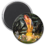 MidEve - russian Blue cat 2 Inch Round Magnet