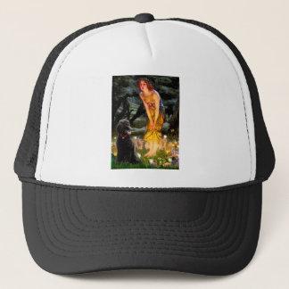 MidEve-Standard Black Poodle (T) Trucker Hat
