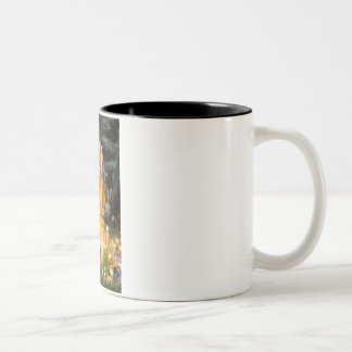 MidEve-Standard Black Poodle (T) Two-Tone Coffee Mug
