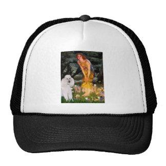 MidEve - White Standard Poodle Trucker Hats